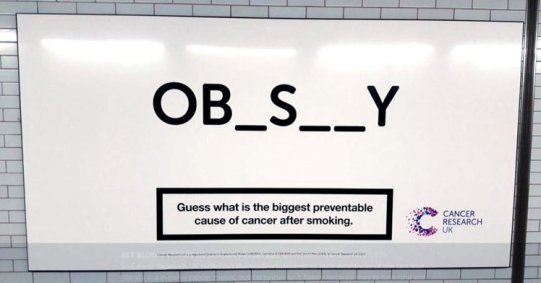 Cancer UK ad
