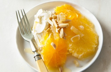 oranges with greek yoghurt