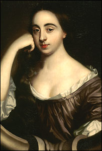 This is Barbara Villiers, mistress of King Charles II. She considered a great beauty in the 1700's