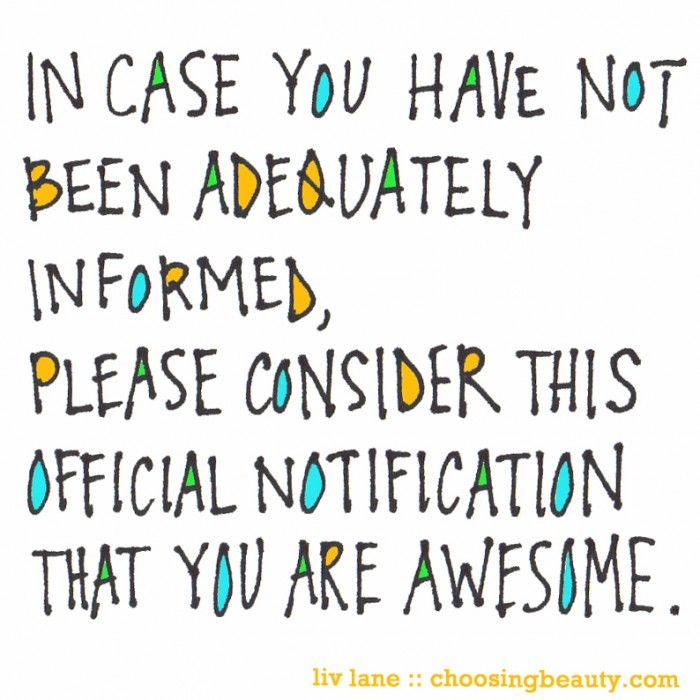Do You Realise How Awesome YouAre?
